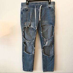 American Bazi   Skinny Destroyed Jeans   M